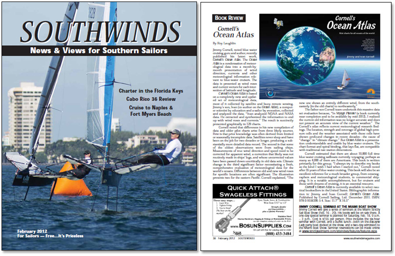 Review of Cornell's Ocean Atlas in Southwinds magazine