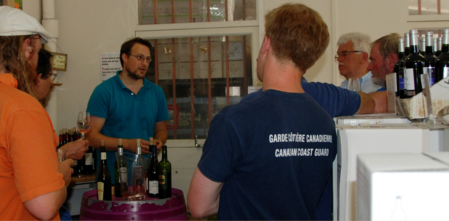 Wine testing in Cherbourg