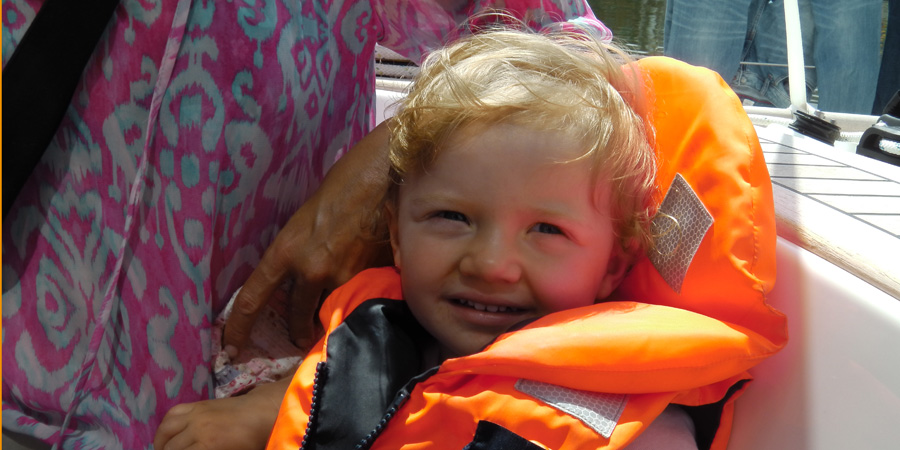 The European Odyssey's youngest participant is just 22 months.  Lotta Gottsche is enjoying the London sunshine