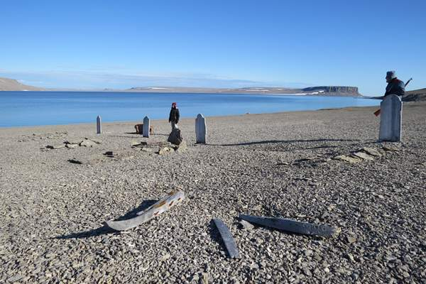 Sailors' graves on Beechey Island