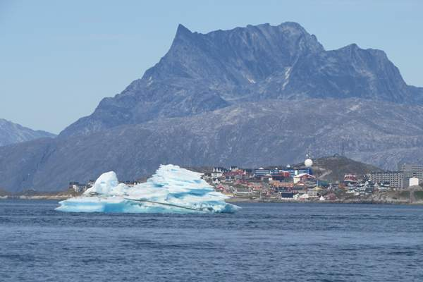 Iceberg in front of Nuuk