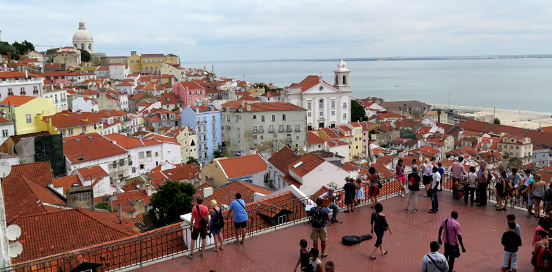 The historic center of Lisbon