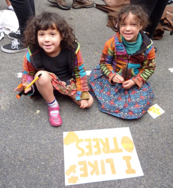 Girls on the London Climate March