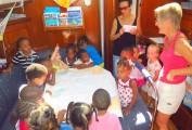 School children from Le Marin pre-school visit DOUDOU