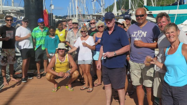 Crews of Themi, Roxy, Lahaina, Doudou and the Tourist Office welcome Sattwa to Martinique