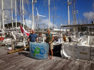 Rob and Carol on Maggie with their BPO flag