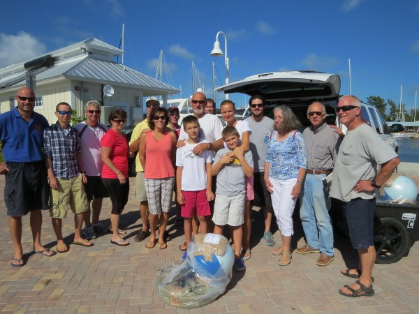 The Odyssey sailors and Shaun Nolk from NOAA in Key West