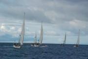 The yachts set sail