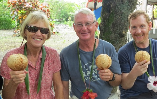 Carol and Rob with son Dan in Southwest Bay on the island of Malekula, Vanuatu