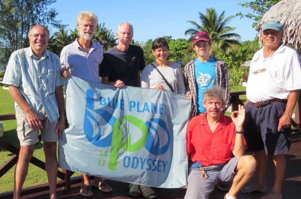 No Regrets crew with Doina and Dan Cornell, Michael from Drina and Luc Callebaut who coordinated the Vanuatu stopover for Cornell Sailing