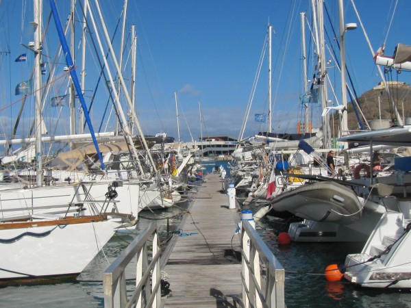 An hour before the start at Mindelo Marina