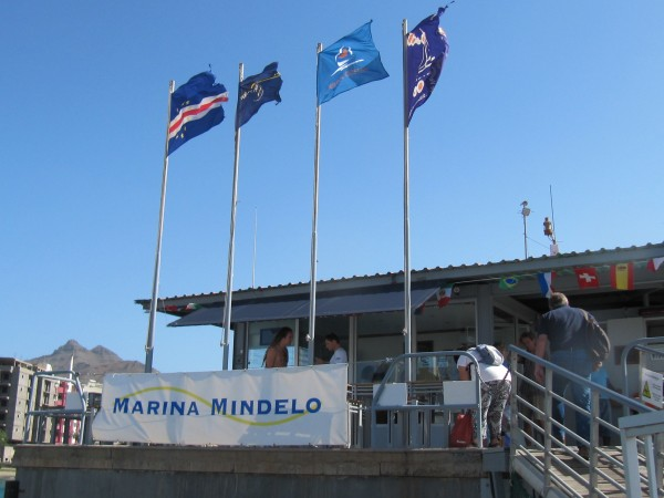 The Mindelo Marina offers full service, safetiness and a floating bar + restaurent