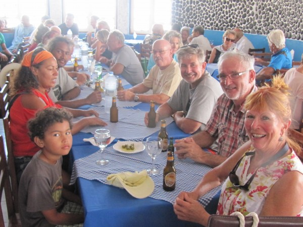 The crews enjoy great food and the world known Cape Verde music