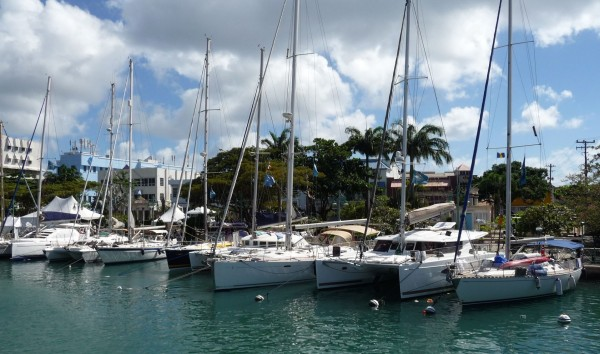 Islands Odyssey boats in Bridgetown