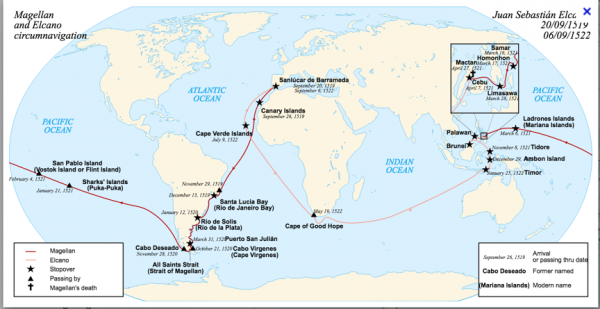 Magellan and Elcano circumnavigation